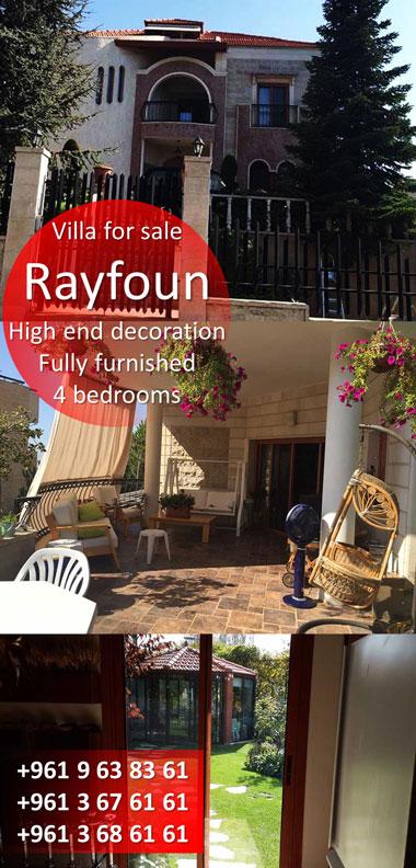 villa for sale in rayfoun