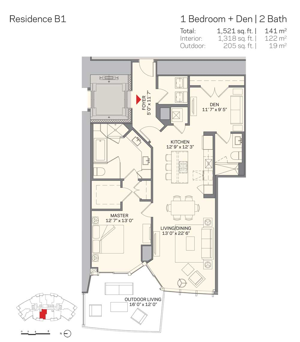 Rl 1865 Apartment For Sale In Miami Downtown 762 500 Lebanesemall