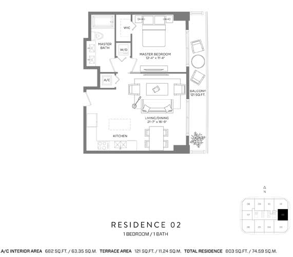 RL-1903 Apartment For Sale In Miami, Brickell