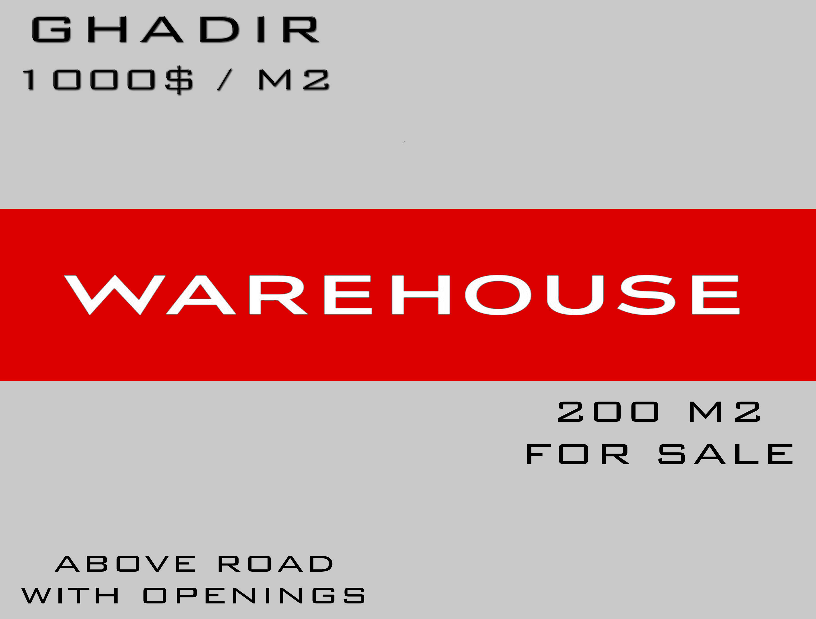 Warehouse, For Sale, Ghadir, Keserwan, Lebanon