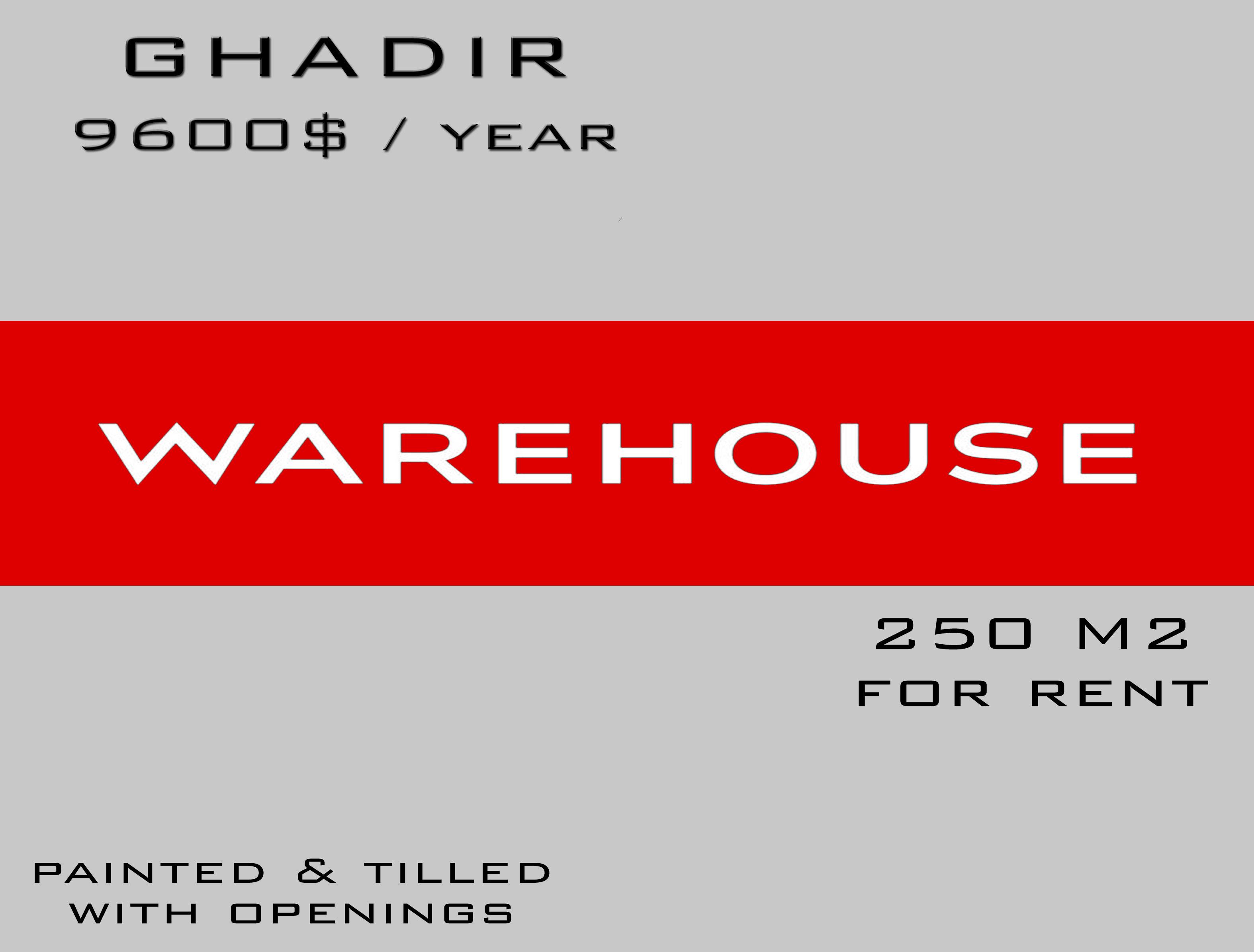 Warehouse for rent in keserwan lebanon - Real estate in lebanon - Buy and sell properties in lebanon