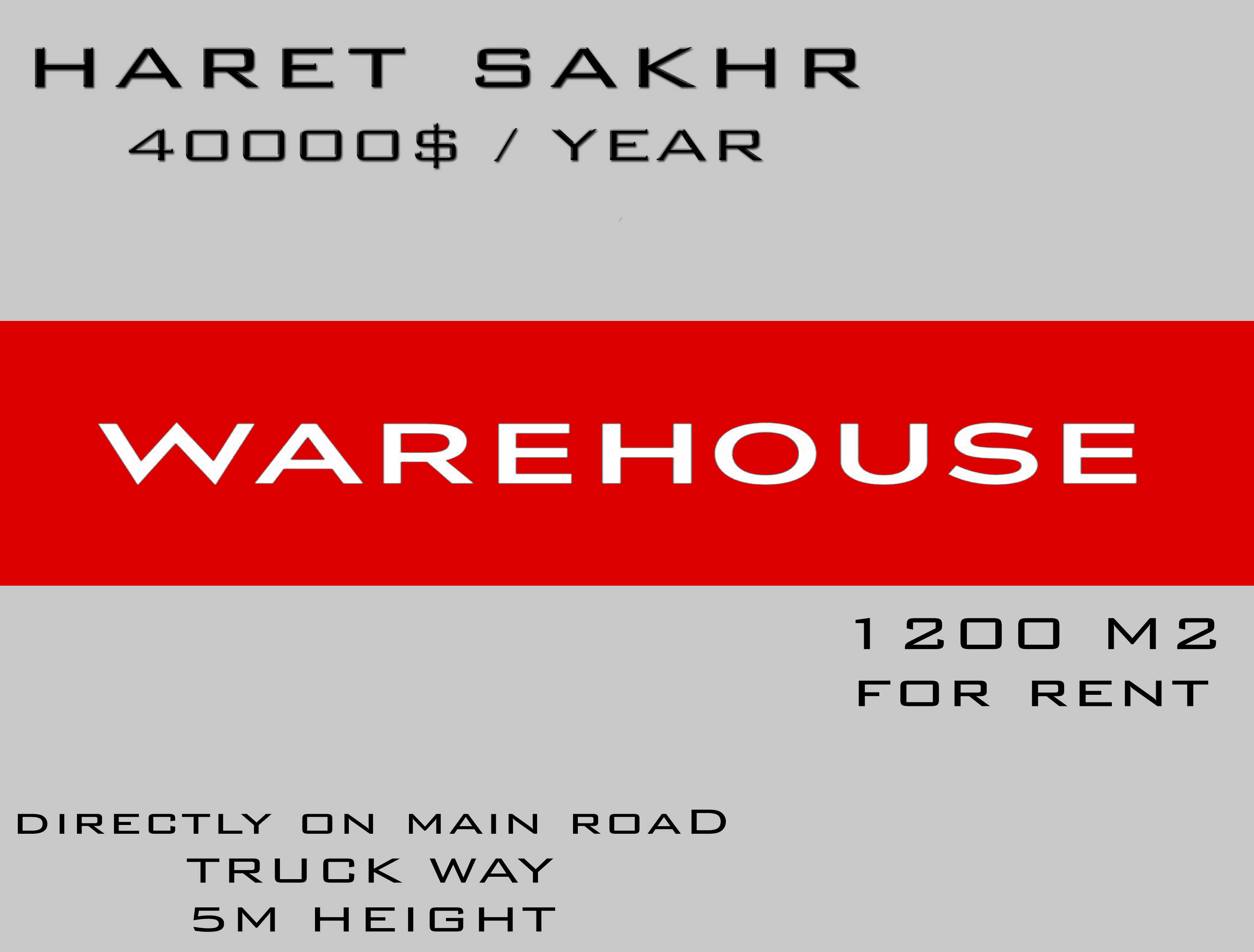 Warehouse for rent in keserwan lebanon - Real estate in lebanon - Buy and sell properties in lebanon
