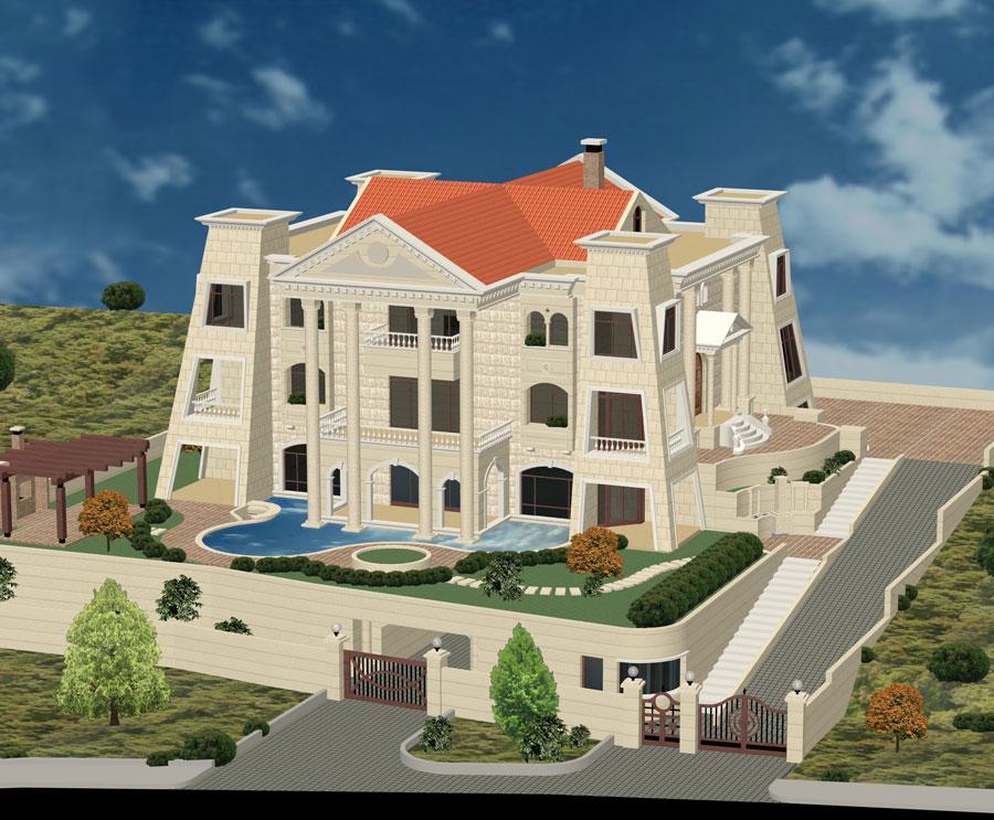 Villa palace for sale in ain saade metn lebanon - Libanese villa ...
