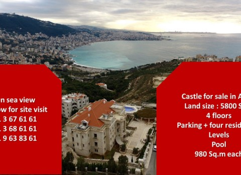 Palace for sale in adma keserwan lebanon- real estate in lebanon- buy sell properties in adma lebanon