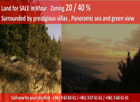 Land for sale in Kfour Keserwan, Lebanon, buy properties and lands in kfour keserwan Lebanon